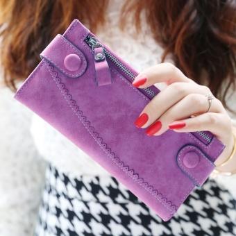 Irak babe Korea Fashion Style perempuan matte renda Dompet baru wallet (Ungu)