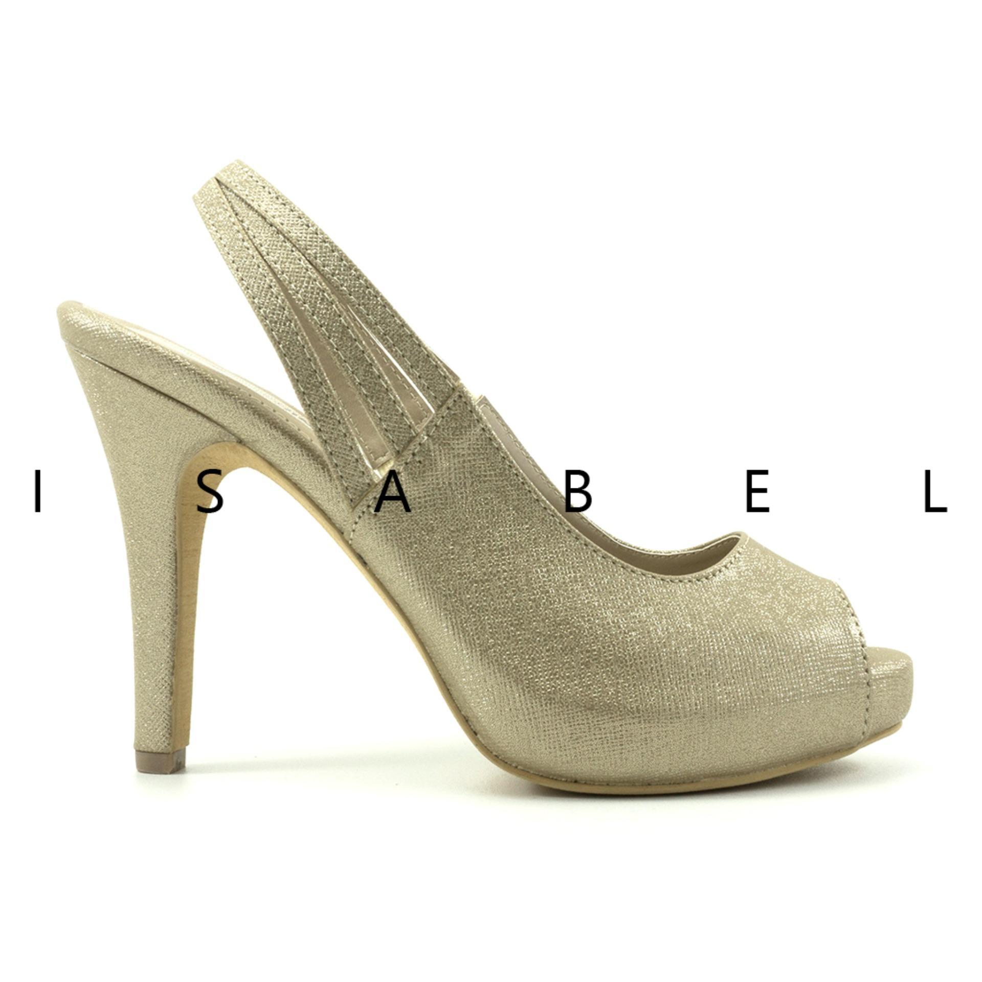Isabel - Sepatu Wanita Hak Tinggi GISELE Heels - Gold .