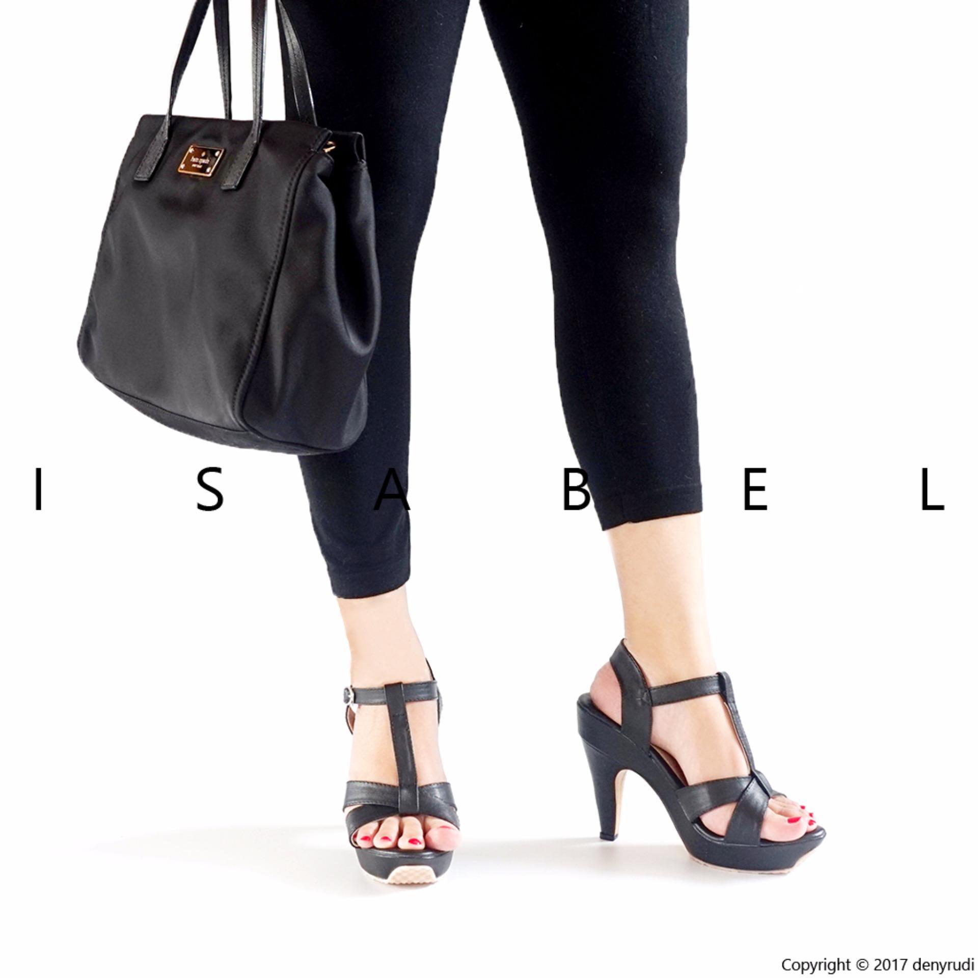 ... Isabel - Sepatu Wanita T STRAP Platform Heels - Hitam ...
