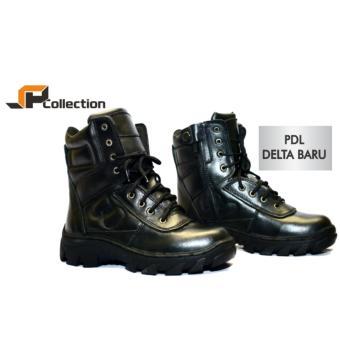 Gambar JAFERI Sepatu PDL Delta Baru Bahan Kulit Sapi Asli Warna Hitam Untuk  POLRI b7bfa7e8f9
