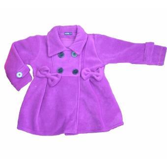 Jaket Anak Permpuan Ungu Lucu Bahan Lembut