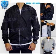 Jaket Bomber 2in1 Bolak Balik - Bomber Jacket - Jaket Parasut - Jaket Pria - AX003 - HITAM