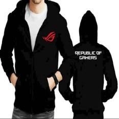 Jaket Hoodie Zipper ROG Republic Of Gamers