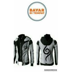 Jaket Naruto Anbu Double Zipper Grey Hoodie-Best Seller