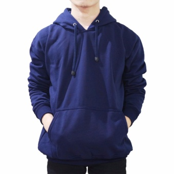 Jaket Pria Murah Jumper Hoodie Kasual-Navy Best Seller