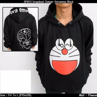 harga Jaket sweater doraemon black 001 Lazada.co.id