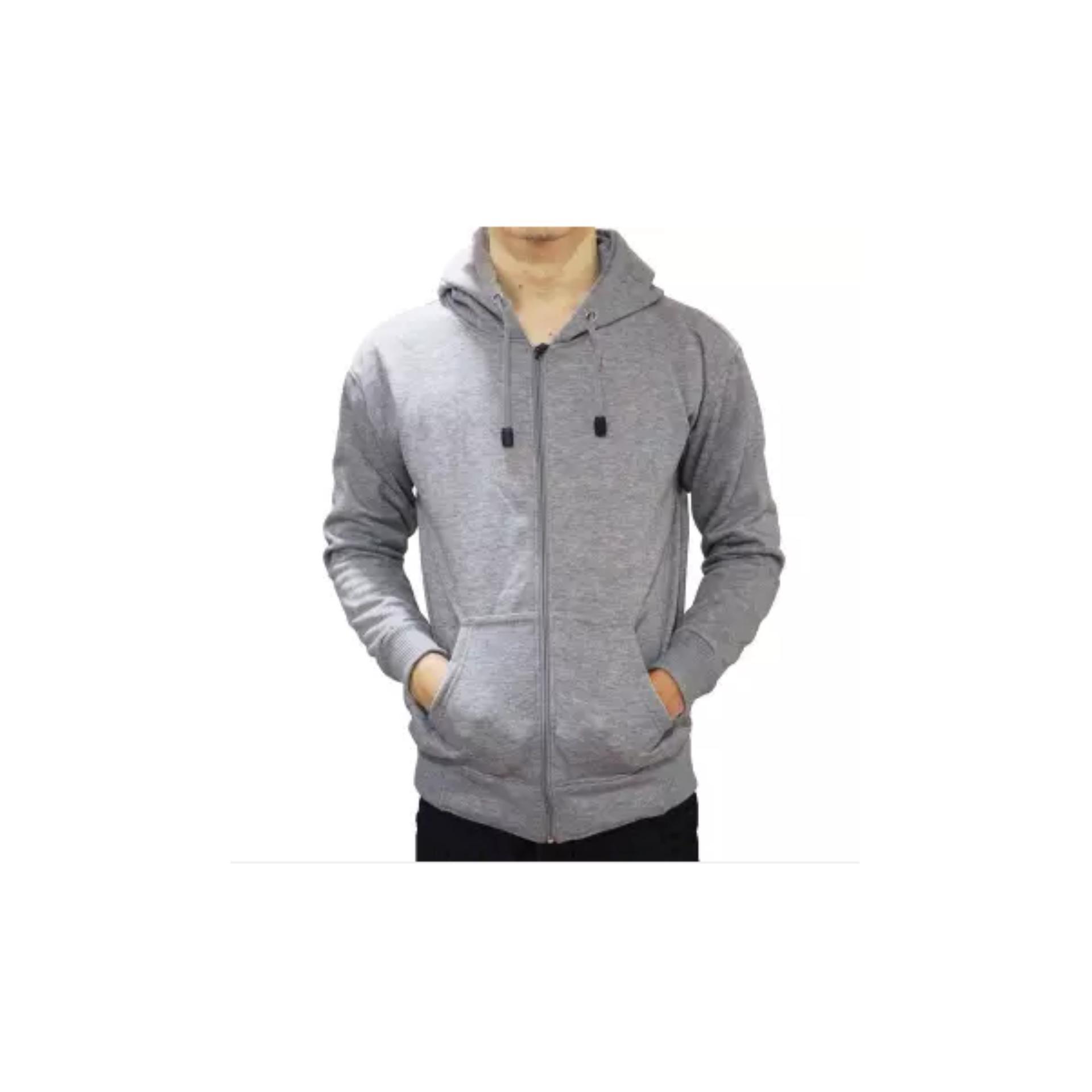 Harga Baru Jaket Sweater Polos Hoodie Zipper Abu Misty Bandingkan Simpan Hodie