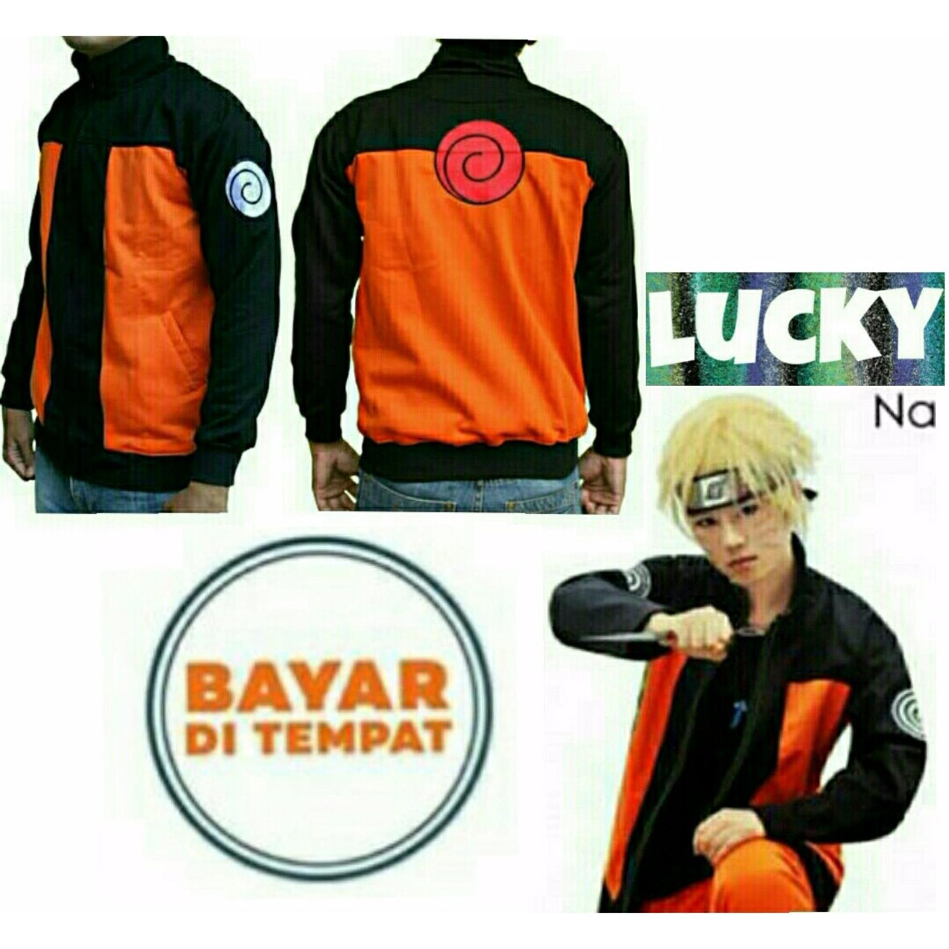 Bandingkan Simpan Jaket Zipper Anime Naruto Shippuden Black Orange Jubah Hokage Minato Best Seller