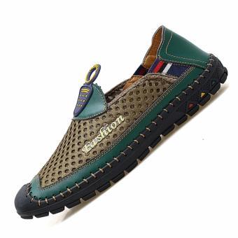 Jarma sepatu olahraga travel pria luar ruangan sepatu Hiking pria(hijau) -0 intl