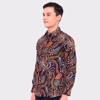 Harga Jayashree Batik Kemeja Slimfit ARUNA Brown Long Sleeve Pria Terbaru klik gambar.