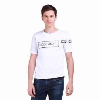 JCLOTHES Kaos Pria / Tumblr Tee / Kaos Cowo Bodo Amat - Putih