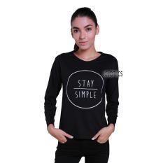 JCLOTHES Tumblr Tee / Kaos Cewe / Kaos Lengan Panjang Wanita Stay Simple - Hitam