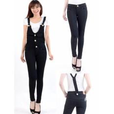 Jeans BAJU KODOK Jumpsuit Wanita Jeans Den 0566 Black  - Ancien Store