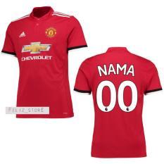 Jersey Bola MU Man United Home 2017/2018 Custom Nama & Nomor