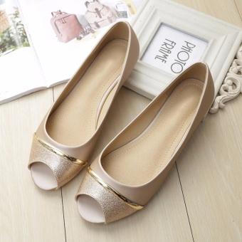 Beli Jetcorn sepatu berkualitas tinggi wanita sepatu santai Women Party Casual Flat Heel Soft Sole Sequins