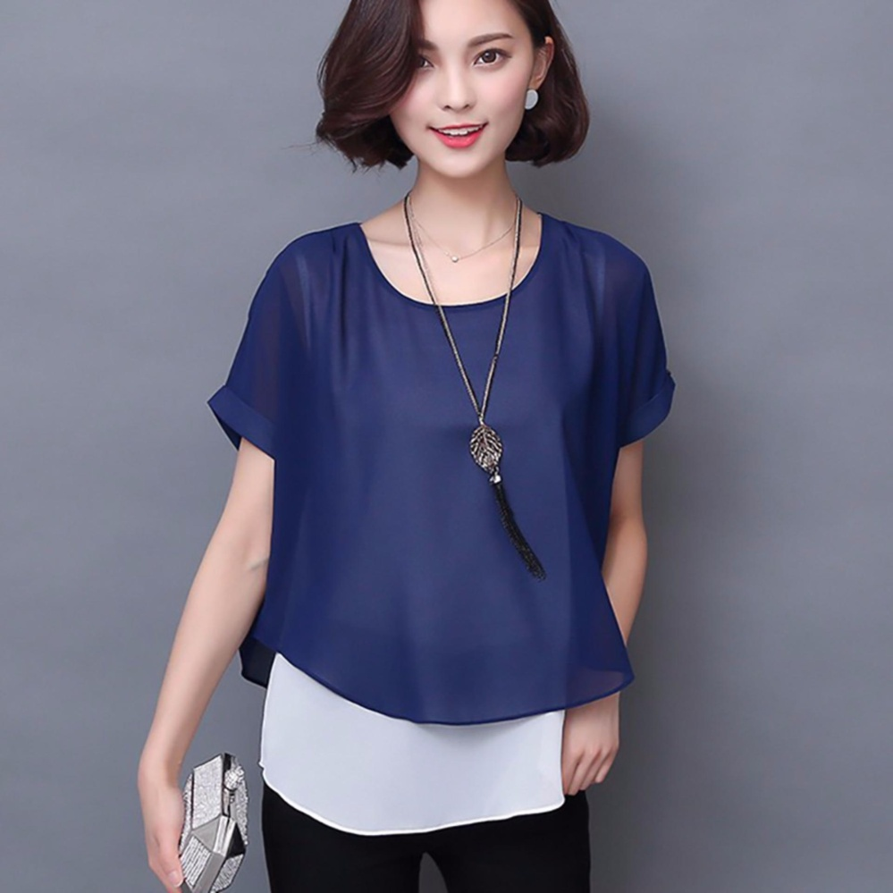 Bandingkan Simpan Jfashion Korean Style Double Layer Blouse Ivanka Midi Dress Variasi Bros