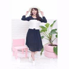 Jfashion Korean Style Midi Dress Combination - Corry Hitam