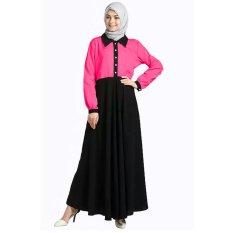 Jfashion Long Dress Gamis Maxi Tangan panjang - Fanta