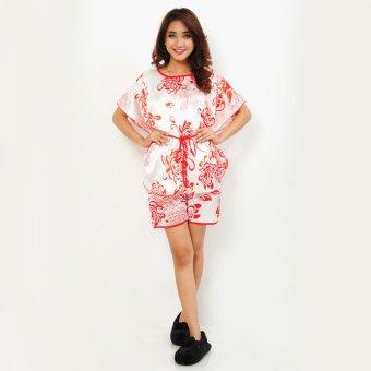 Jfashion Stelan Baju Tidur Tangan Pendek Celana pendek - Silky Printing ...