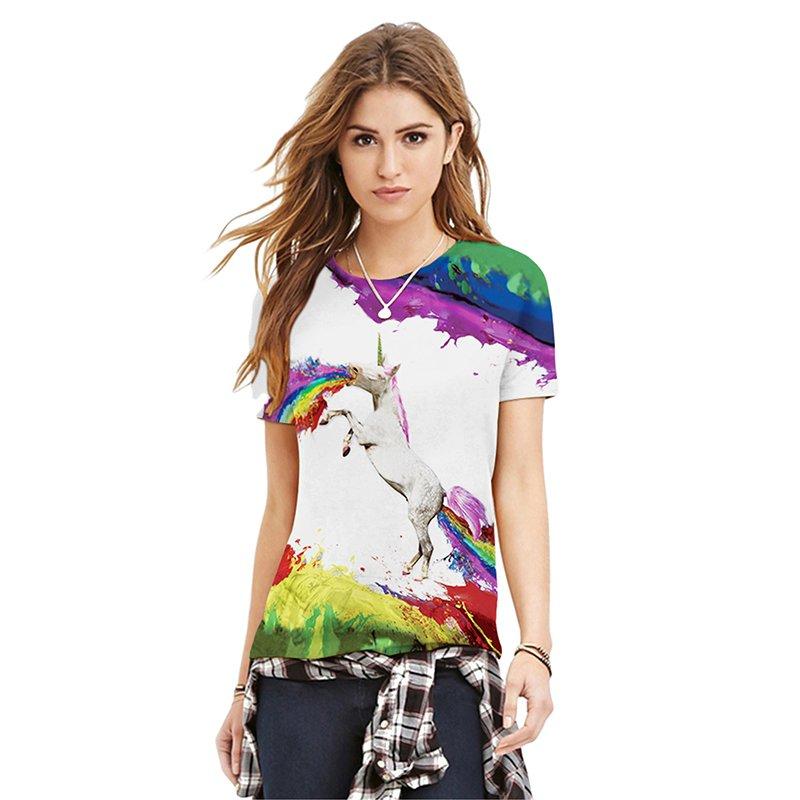Jiayiqi Men's Fashion 3D Print T-shirt Summer Sport Short Sleeve Tee Shirts - intl. Source · Jiayiqi Men's Stylish Multicolor Graffiti Tops Sports T- shirt .