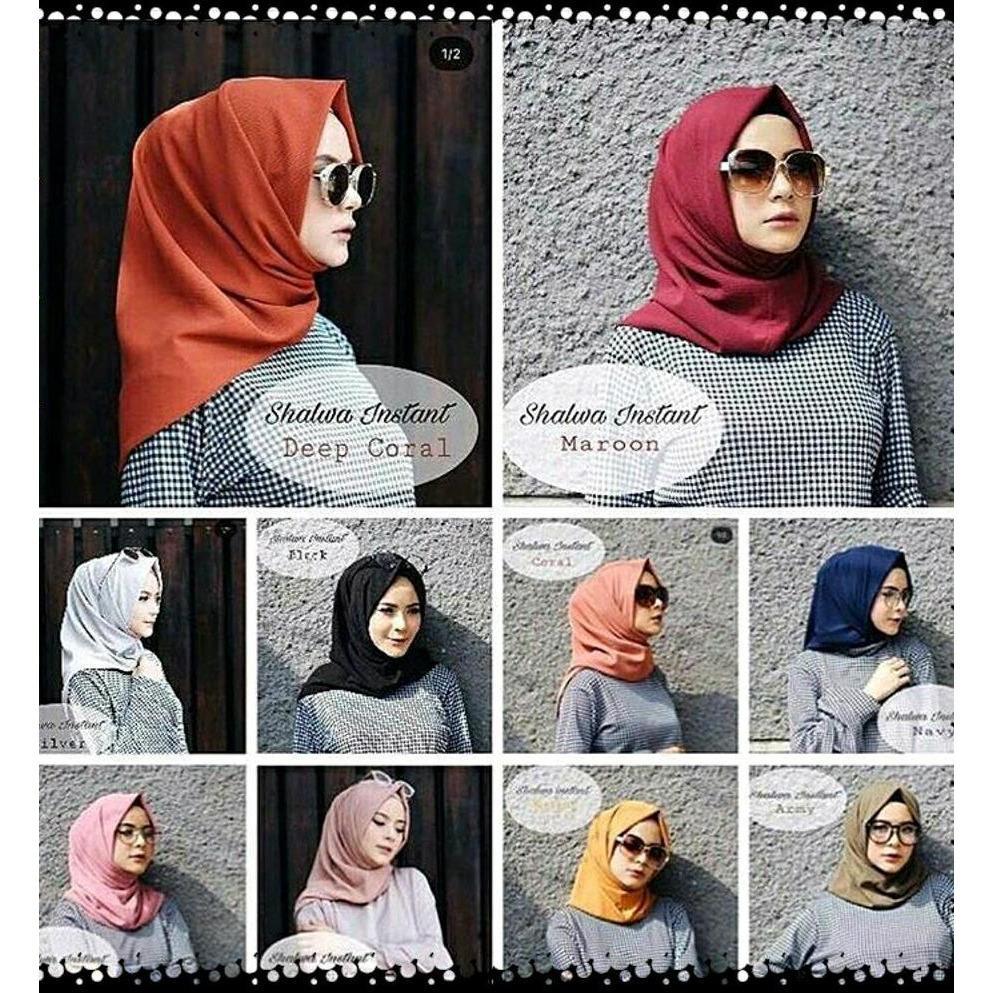Pastimaksi Muslim Fashion Penawaran Jilbab Instan Salwa Sweater Raindoz Bbr187