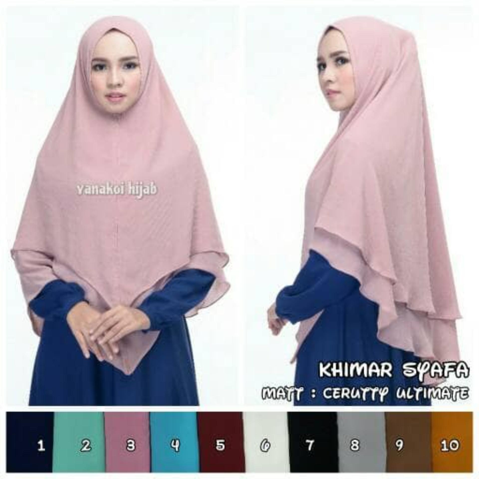 Jilbab Instan Khimar Syar'i Sabrina 3 Layer Hijab - Dusty Pink | Lazada Indonesia
