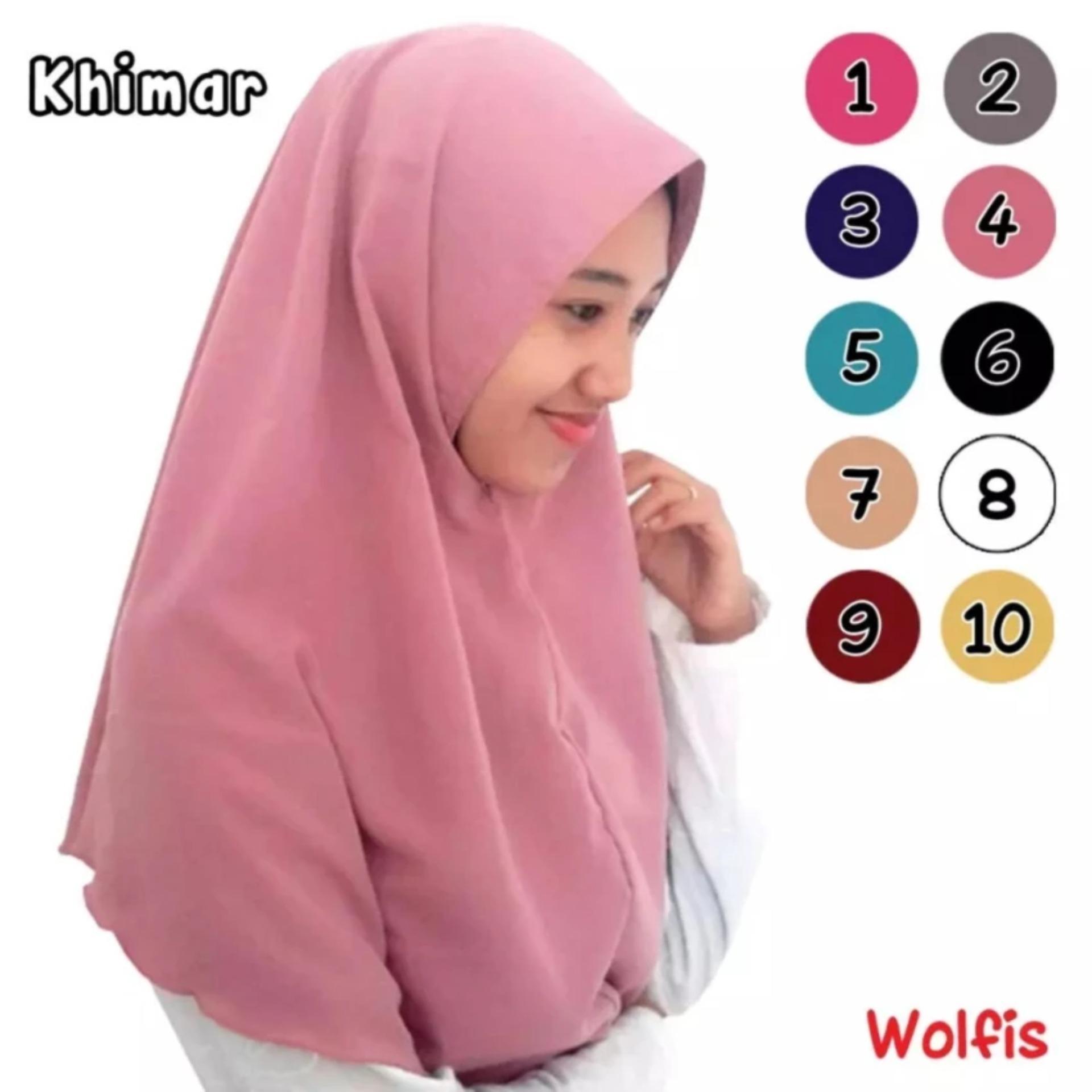 ... Jilbab Muslim / Kerudung Hijab simpel / Khimar Instan Najwa Pet -(Banyak Warna) ...