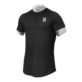 Beli Jirouxiongdi kasual musim panas kebugaran binaraga Slim lengan pendek t -shirt (Hitam) (Hitam) Online