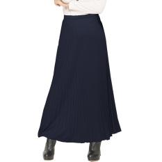 JO & NIC Pleated Long Skirts - Rok Panjang Lipit Fit to XL - Navy