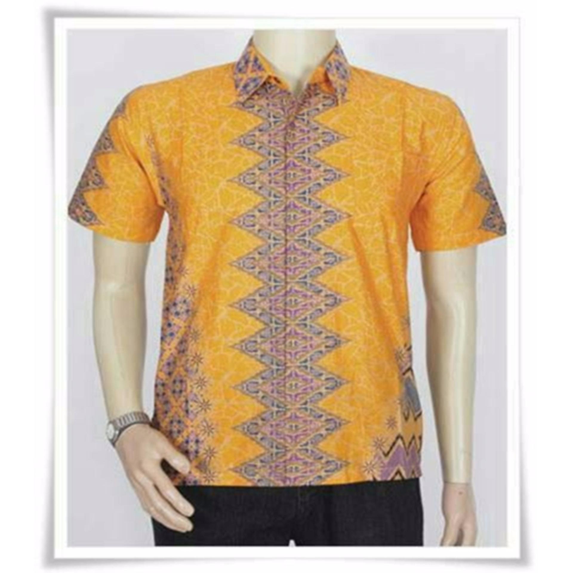 MURAH Baju Batik Modern Kemeja Pria Slim Fit 7580