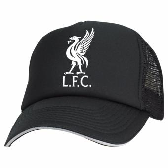 Just Cloth Topi Trucker The Reds Liverpool Black White - Hitam