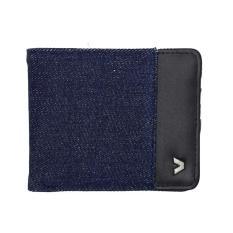 Kalibre 995112-400 Dompet Denim Kulit Kombinasi Pria Biru Blue Jeans