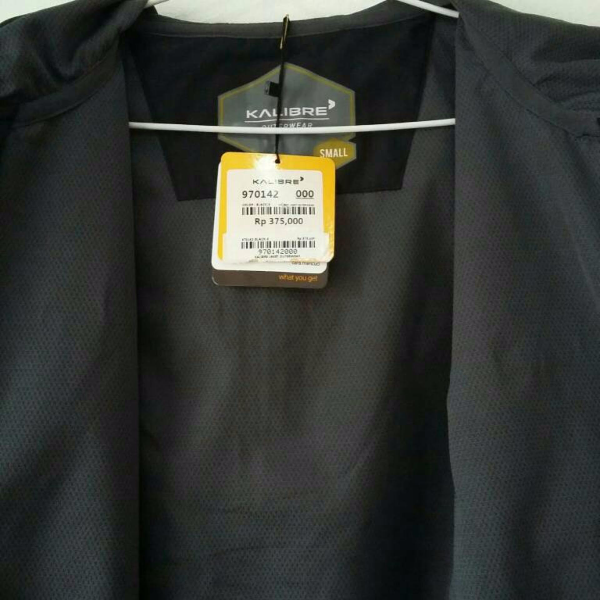 Kalibre Vertex 1.2 Jaket Hoodie Outdoor Gunung Anti Air WaterproofWater  Resistant Hitam Black . f690a1fa07
