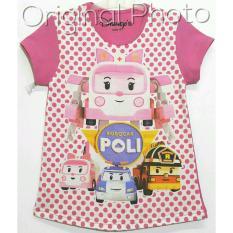 Kaos Anak Karakter -  Poli Pink