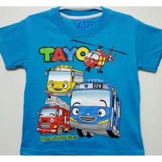 Kaos Anak KarakteR Truck TAYO dan Heli