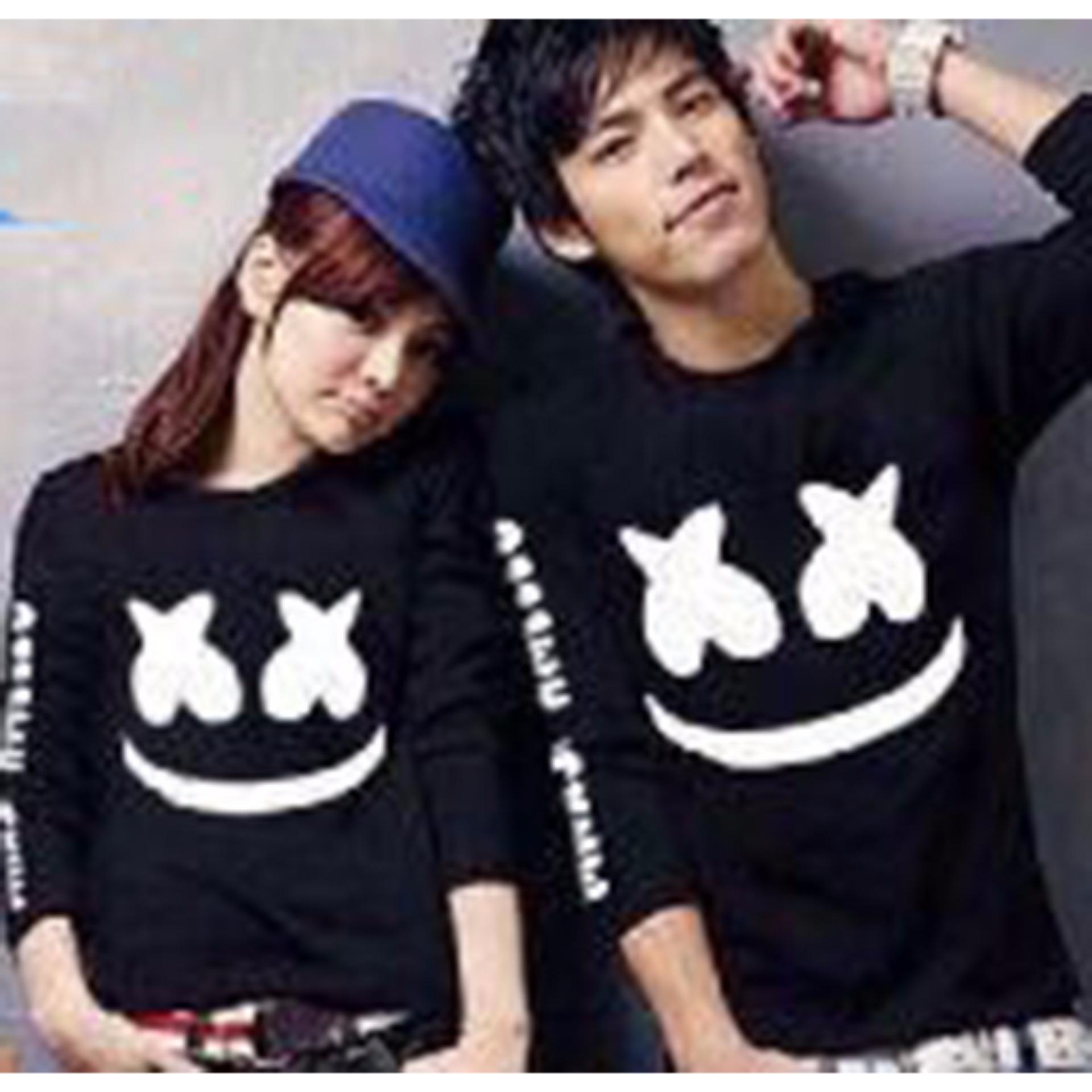 Flash Sale Kaos Couple Lengan Panjang | Baju Couple | Kaos Kapel | Baju Kembar