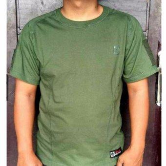 Merah Hitam Terbaru Source Kaos T Shirt Tactical Military Velcro Lengan Pendek Hitam .