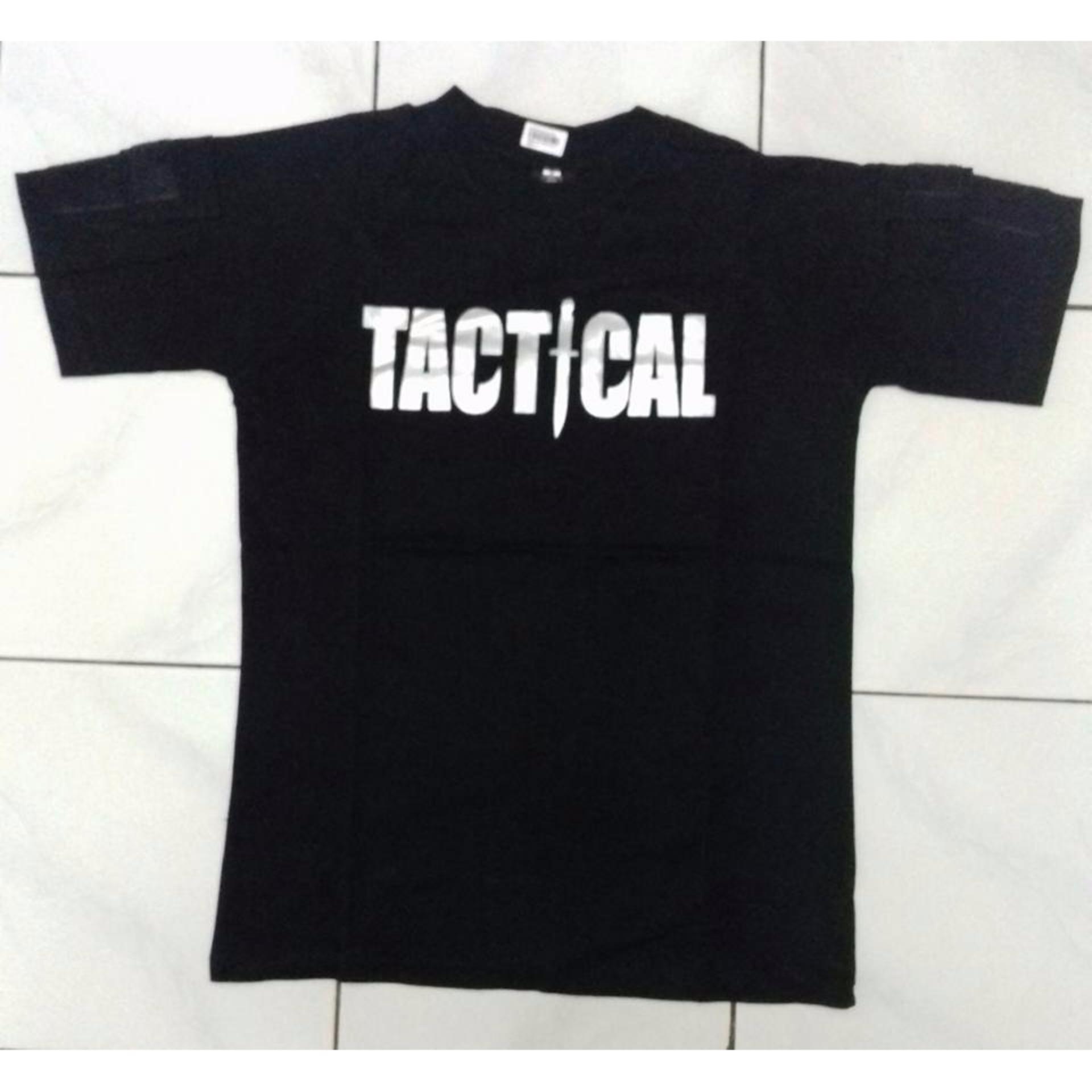 T Shirt Tactical Military Lengan Pendek Merah Hitam Daftar Harga Produk Ukm Bumn Kaos Oblong Pria Xxl