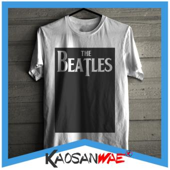 05e421a9d Harga Kaos The Beatles Logo Band Musik Desain Blok Tshirt KaosanWae ...