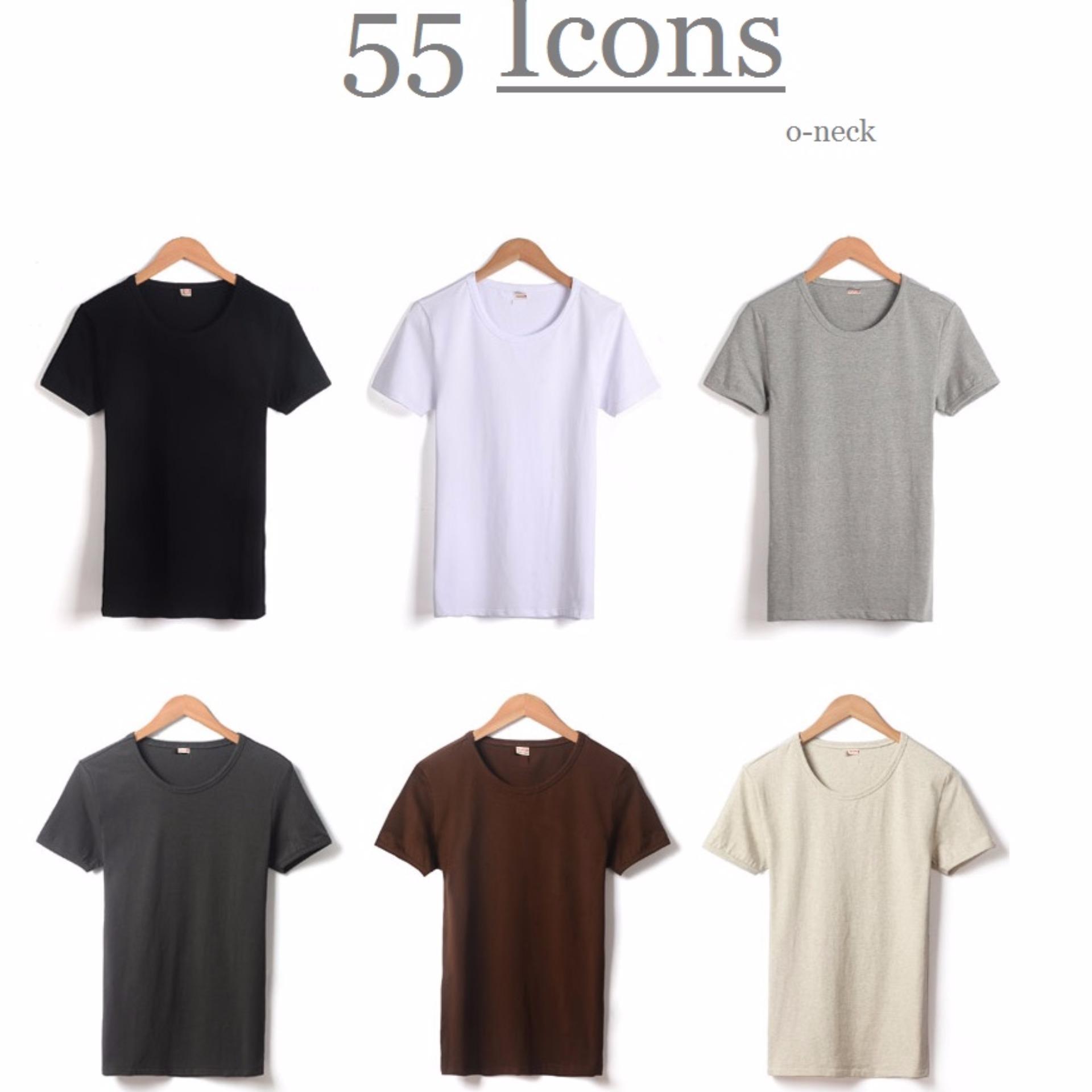 ... Kaos55 Kaos T-Shirt O-Neck Lengan Pendek - Abu Tua ...