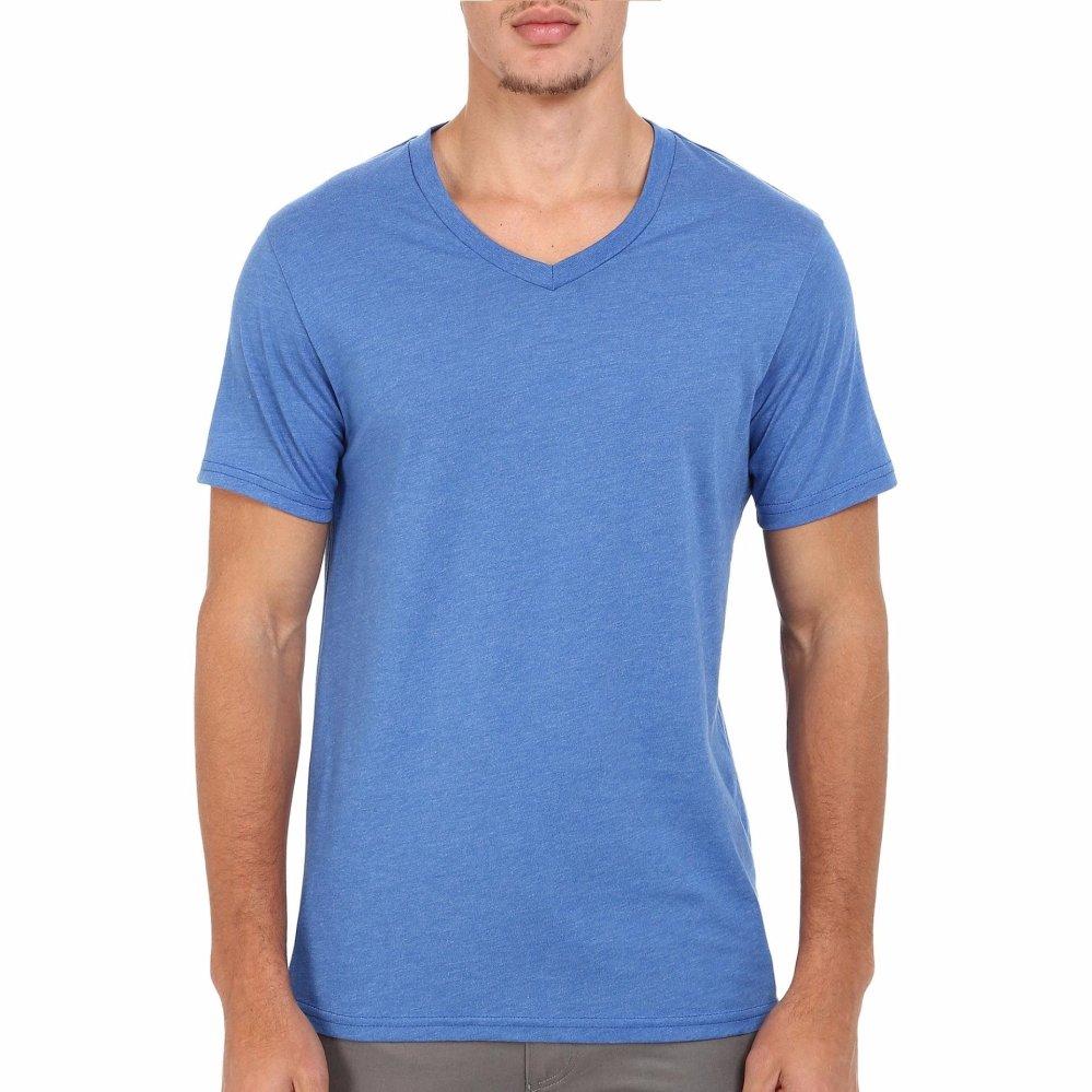 ... Kaos55 Kaos T-Shirt V-Neck Lengan Pendek - Biru Dongker ...