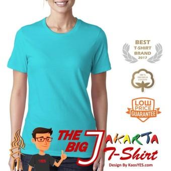KaosYES T Shirt Kaos Polos Lengan Pendek The Big J Merah Marun Source · KaosYES T