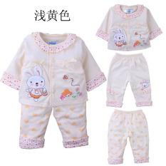Kapas bayi bayi baru pakaian (Kuning pucat)