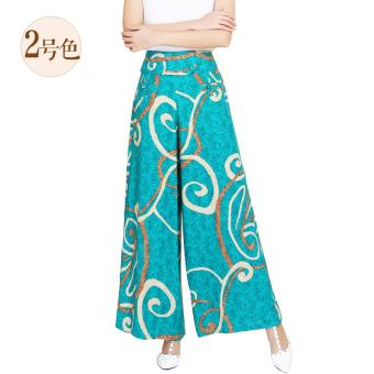 Celana Capri Wanita Motif Cetak Kotak-Kotak Coretan Kartun Warna Warni Trendi (Gigi monyet