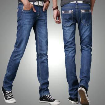 ... (Biru Tua) Terbaru. Source · Hot Deals Kasual pria bisnis longgar celana panjang lurus celana jeans (2000 model berwarna terang