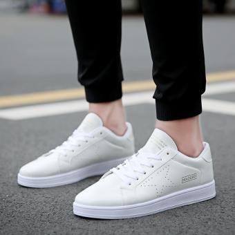 Kasual Putih bernapas pria sepatu pria sepatu sepatu (Putih)