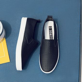 Jual Kasual sepatu putih malas sepatu sepatu putih (Hitam) Online ... d0e21feed4