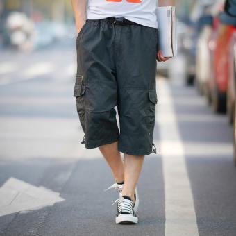 Kasual warna solid pemuda musim panas celana pantai celana pendek (036 abu-abu)