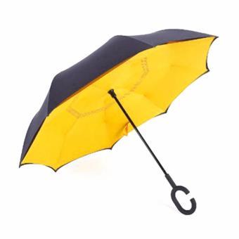 Kazbrella Payung Terbalik / Reverse Umbrella Gagang C - KUNING