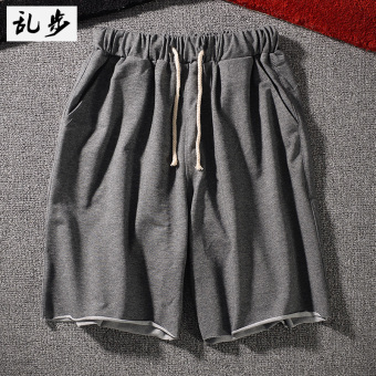 Gambar Kebugaran celana pendek (DK002 celana pendek abu abu gelap)